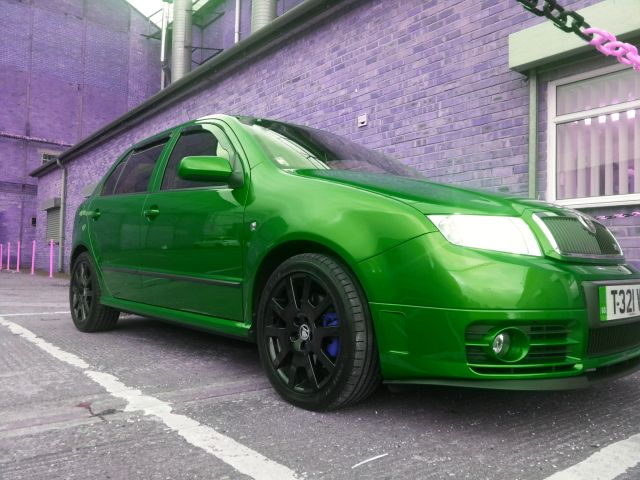 Fabia VRS race green