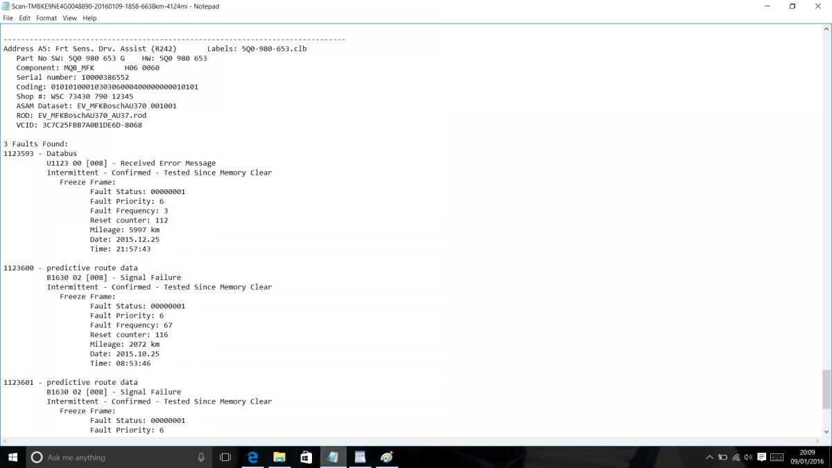 U1123 Fault Code Vw