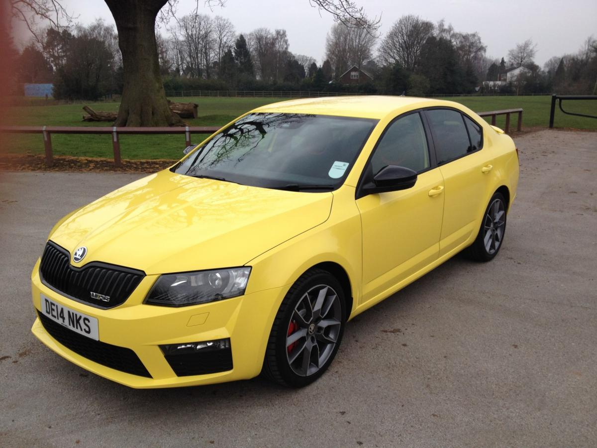 it 39 s here sprint yellow octavia vrs skoda octavia mk iii 2013 onward briskoda. Black Bedroom Furniture Sets. Home Design Ideas