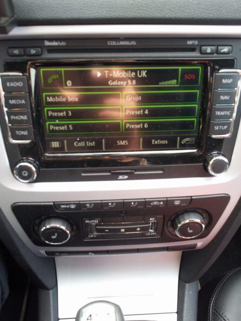 rSAP - Samsung Galaxy S2 working - In Car Entertainment (ICE) and