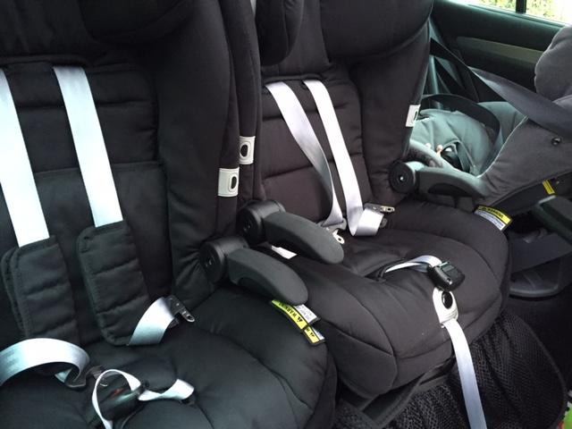 Three Child Seats In Rear Of Superb S3 Skoda Superb Mk