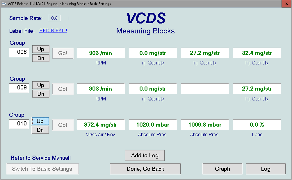 Tdi PD injector checks with VCDS - Diagnostics & VCDS - BRISKODA