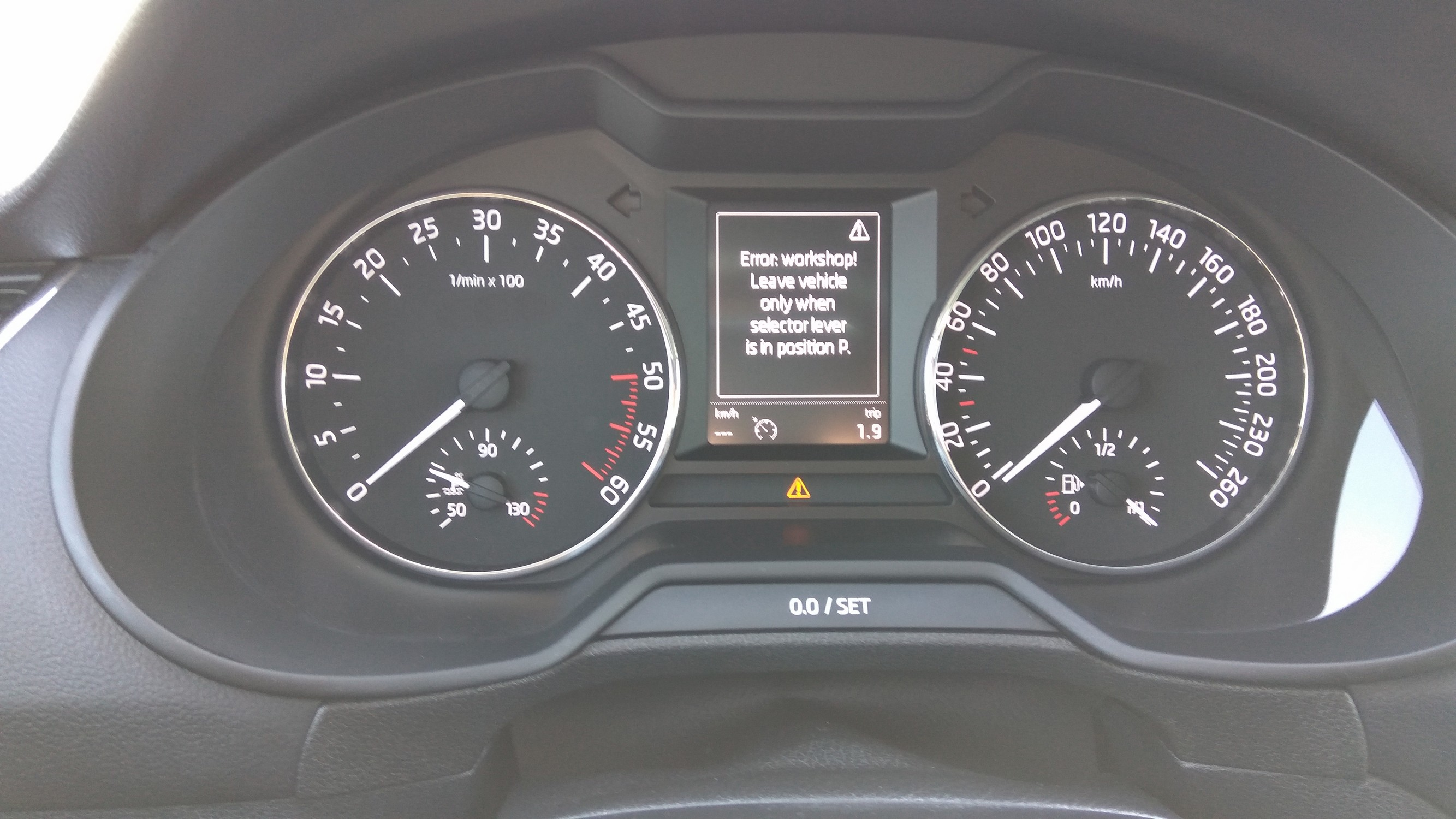 Error service: leave vehicle only when selector in position p