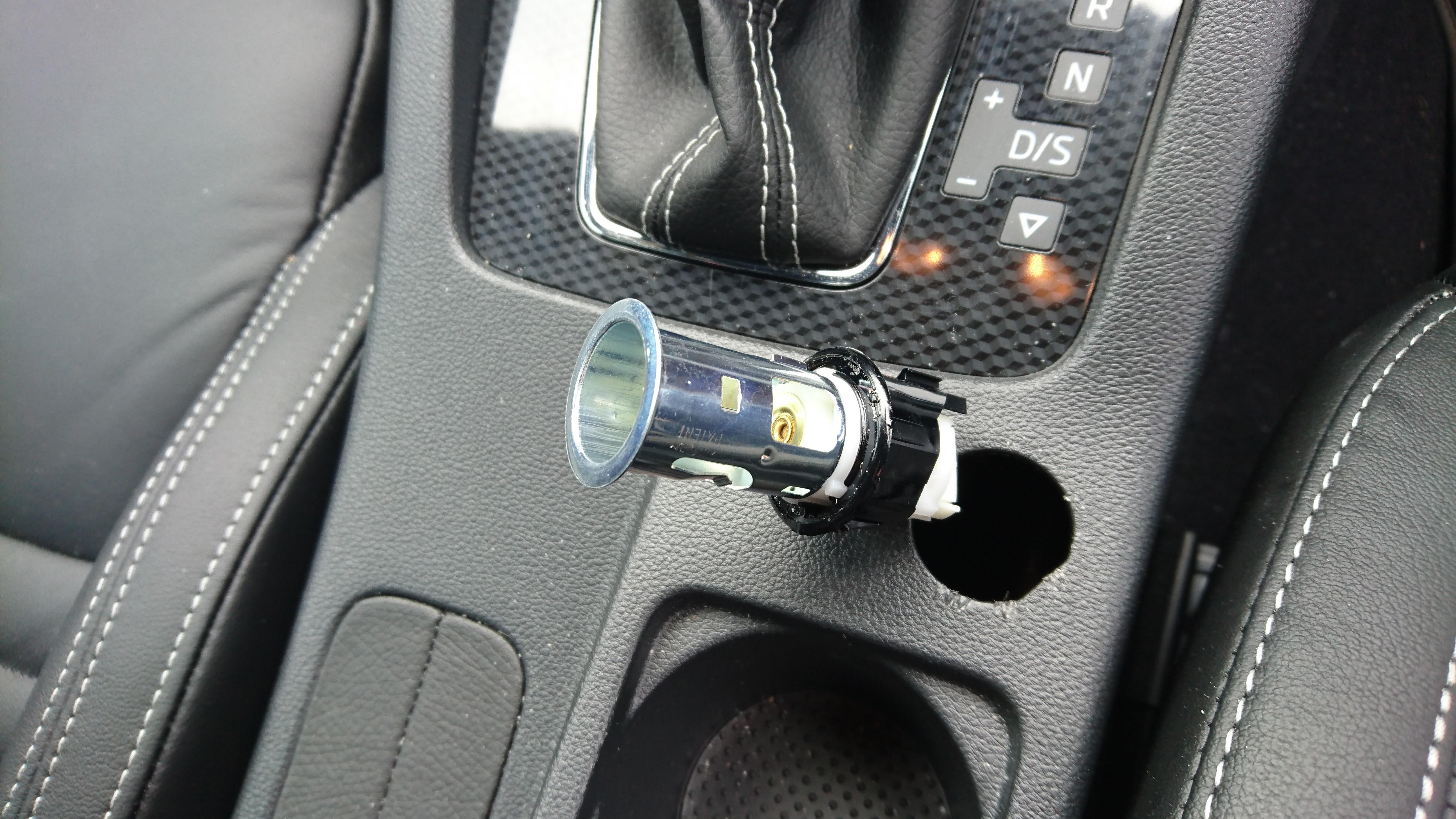 cigarette lighter socket removal help skoda octavia mk iii 2013 onward briskoda