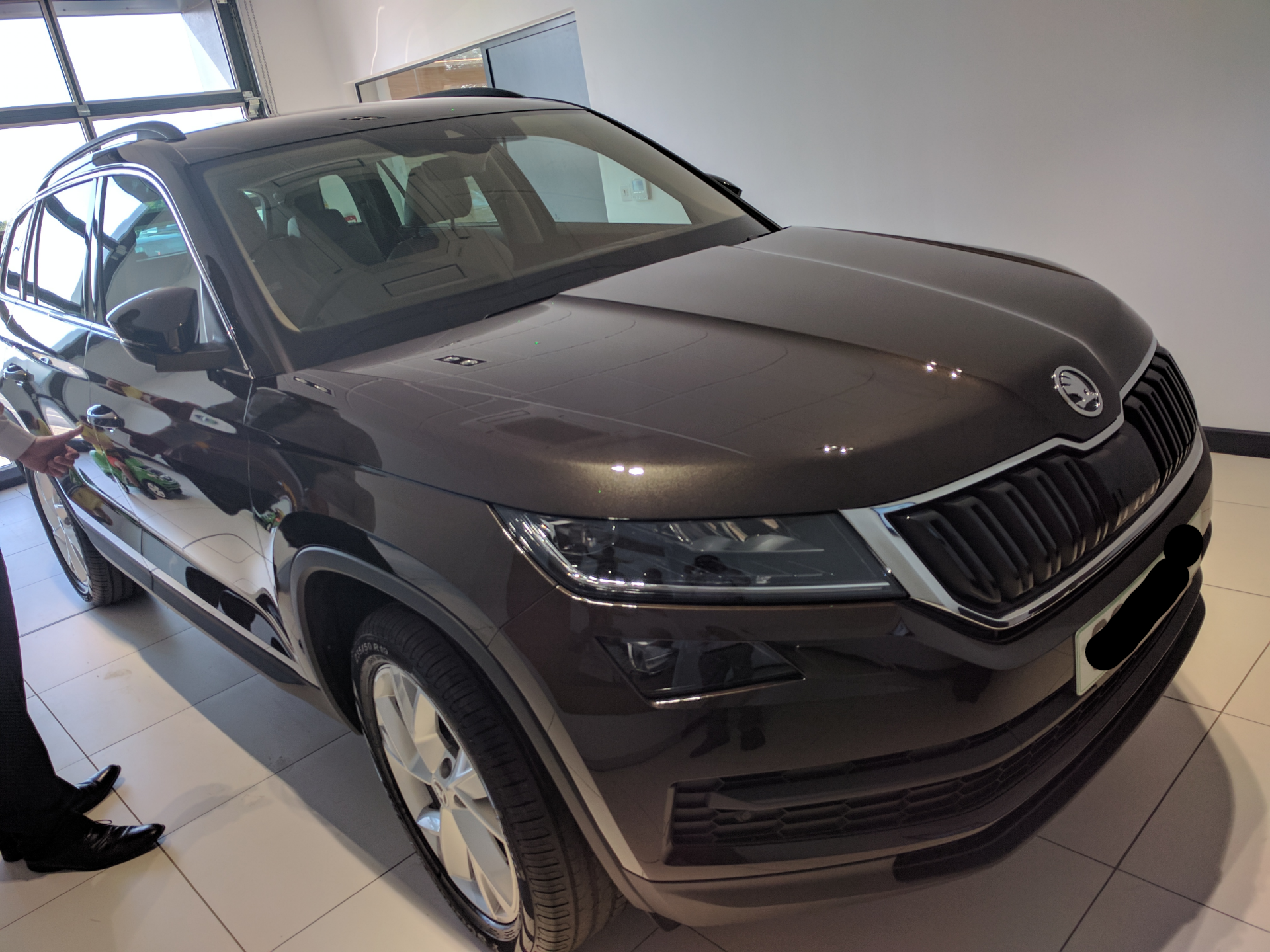 Black Kodiaq >> Possibly the first Kodiaq in Magnetic Brown metallic ...
