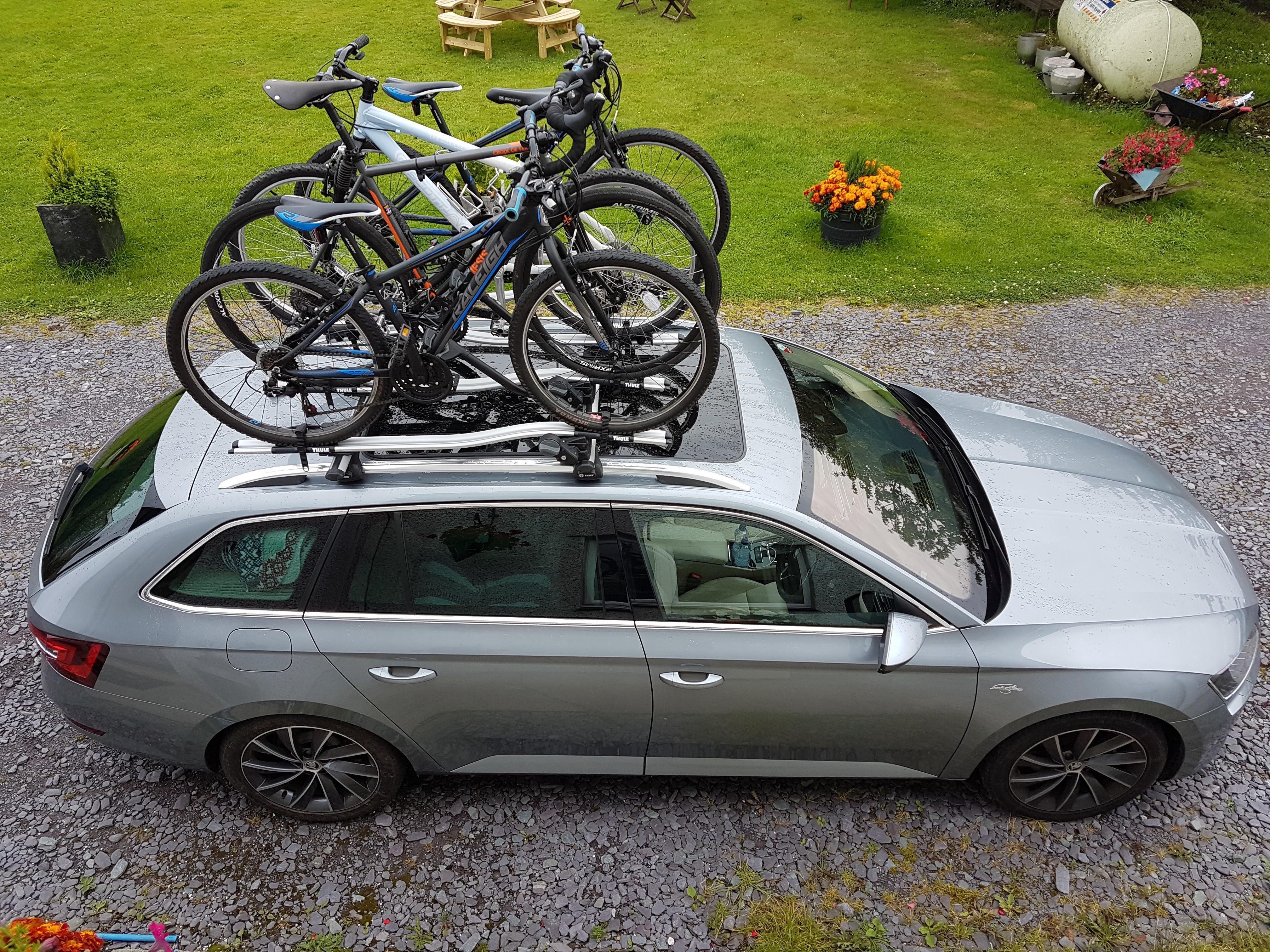 Roof Bars And Bike Carrier Skoda Superb Mk Iii Briskoda