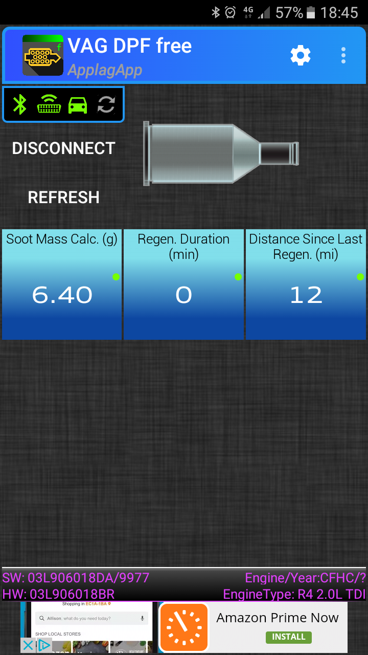 Is this DPF regen and should it occur every few days?? - Skoda