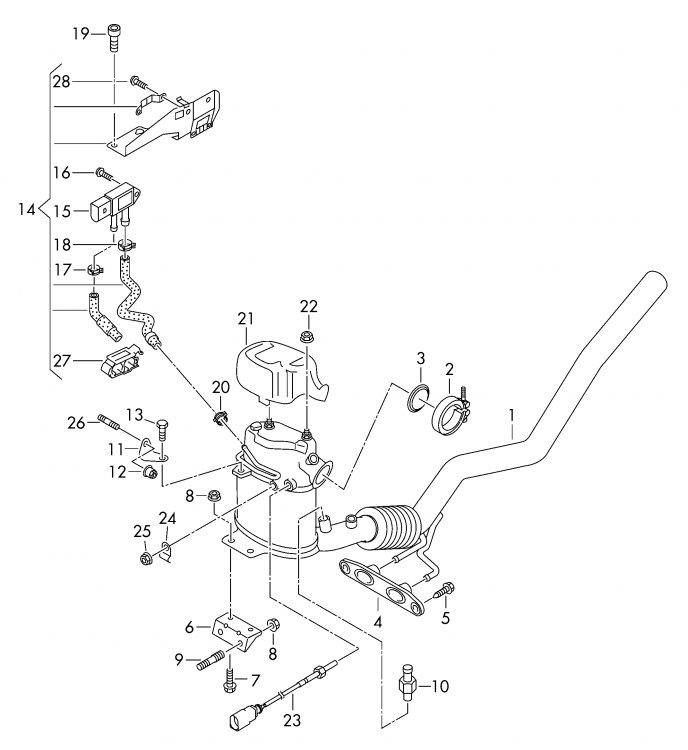 Is this pressure sensor missing a pipe? - Skoda Octavia Mk