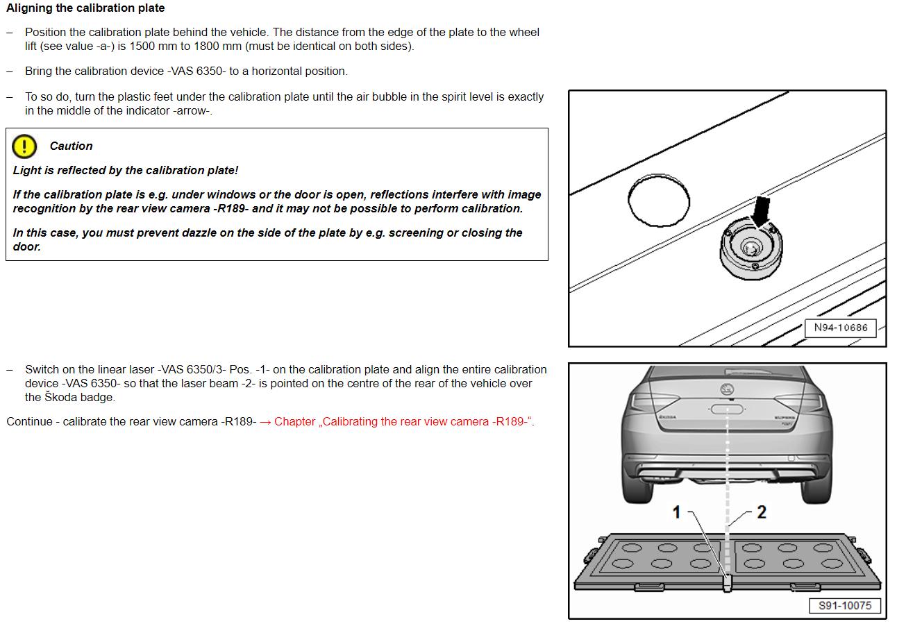 Retro Fit Reversing Camera Skoda Superb Mk Iii Briskoda Wiring Instructions For Backup Calibration2