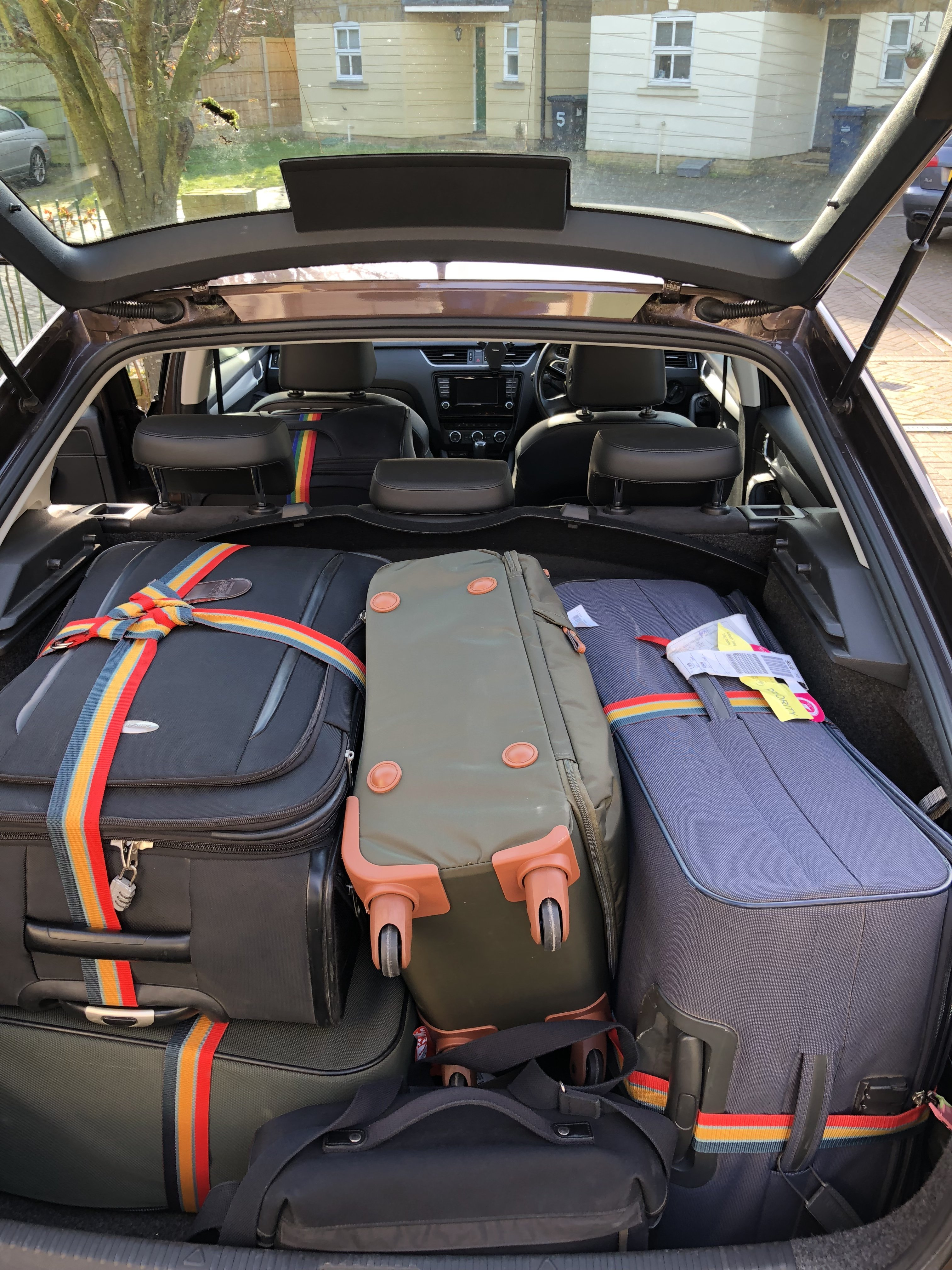 Boot Space For 4 Largest Suit Cases Skoda Octavia Mk