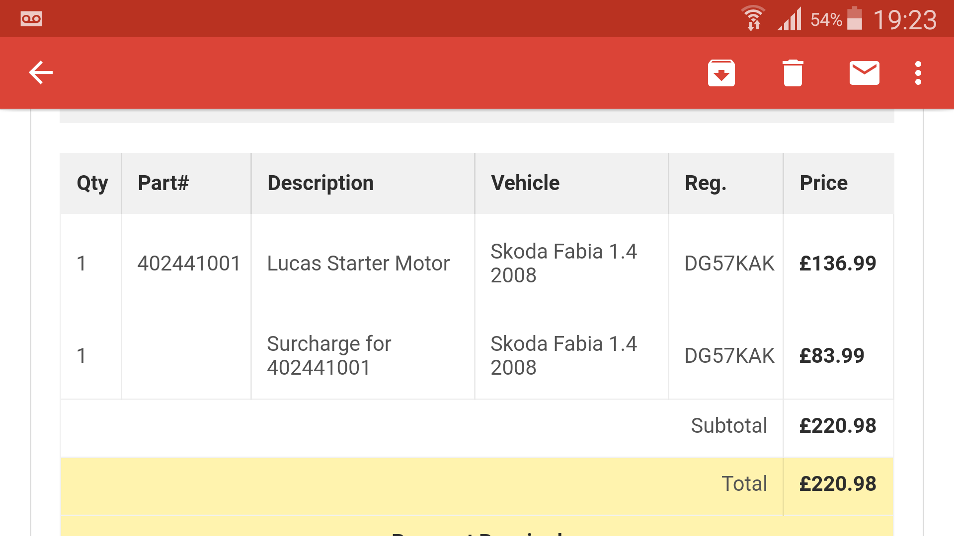 Euro Car Parts    Ripped off! - General Automotive Chat - BRISKODA