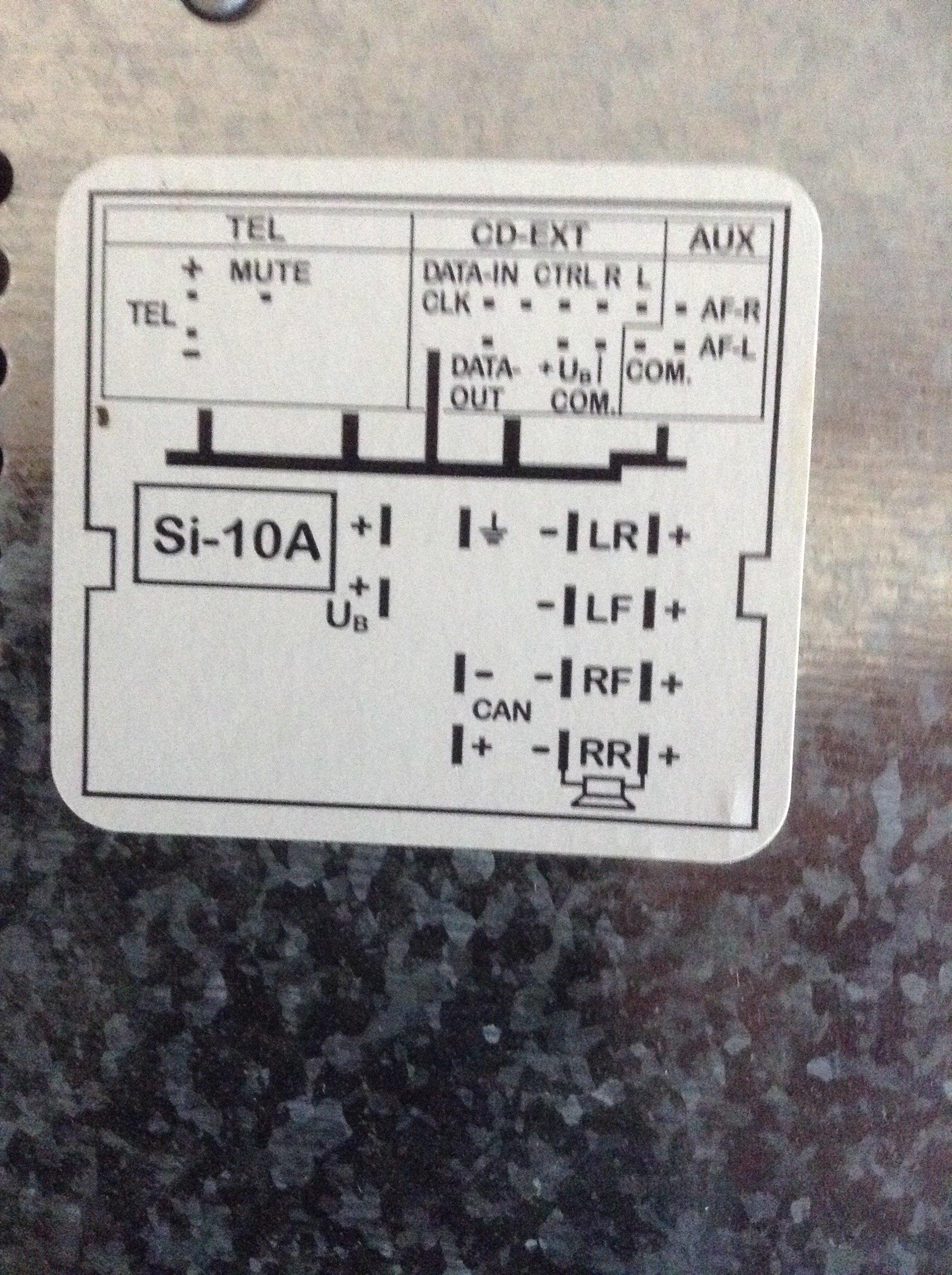 Stereo Wiring Fabia 2 - Skoda Fabia Mk Ii