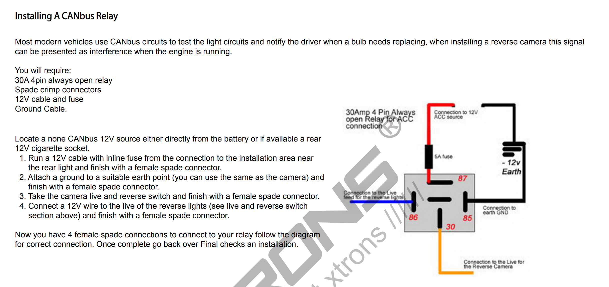 Xtron Installation Backup Camera Wiring Diagram on