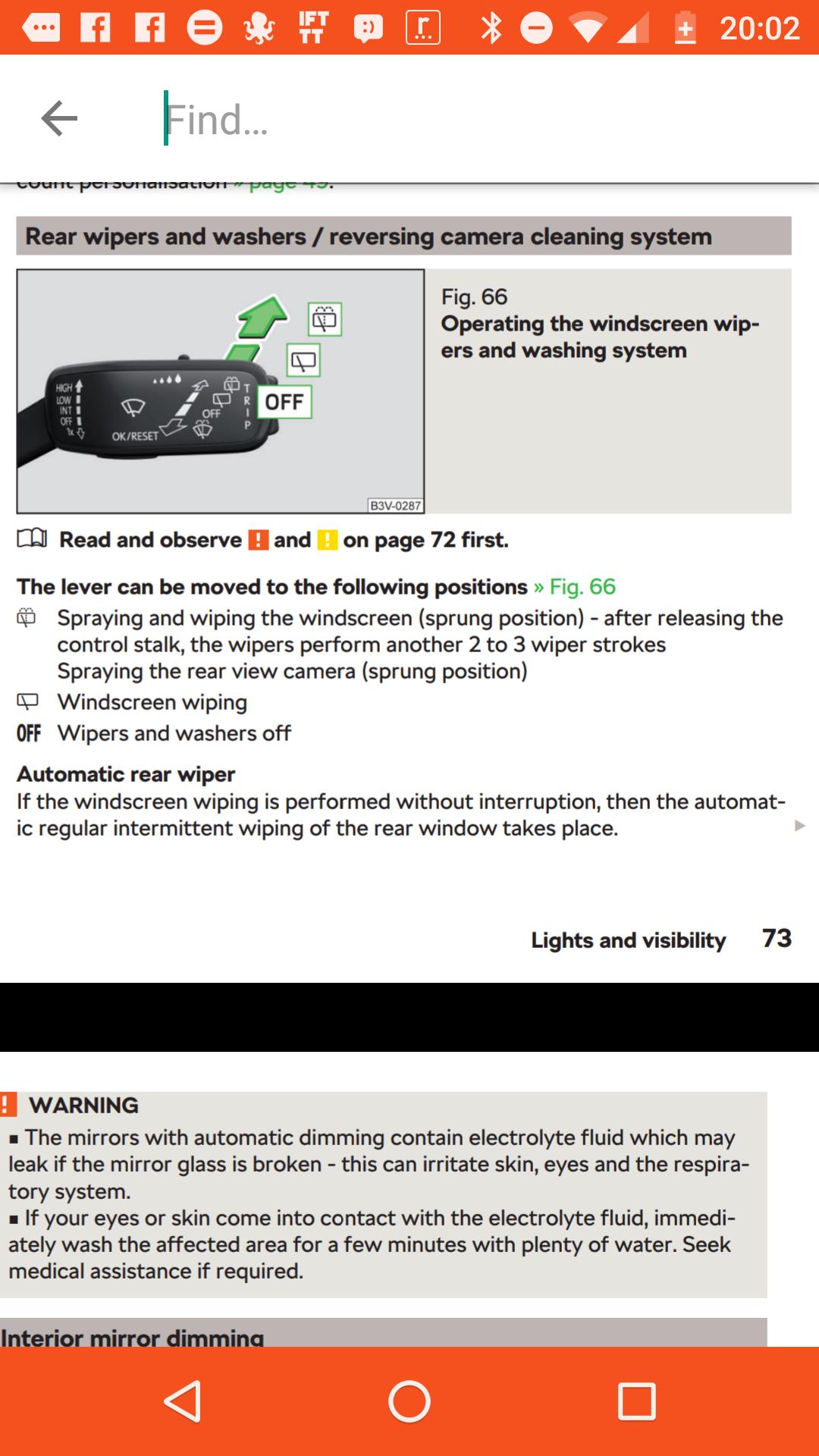 Automatic rear wiper when driving forwards! - Skoda Kodiaq - BRISKODA
