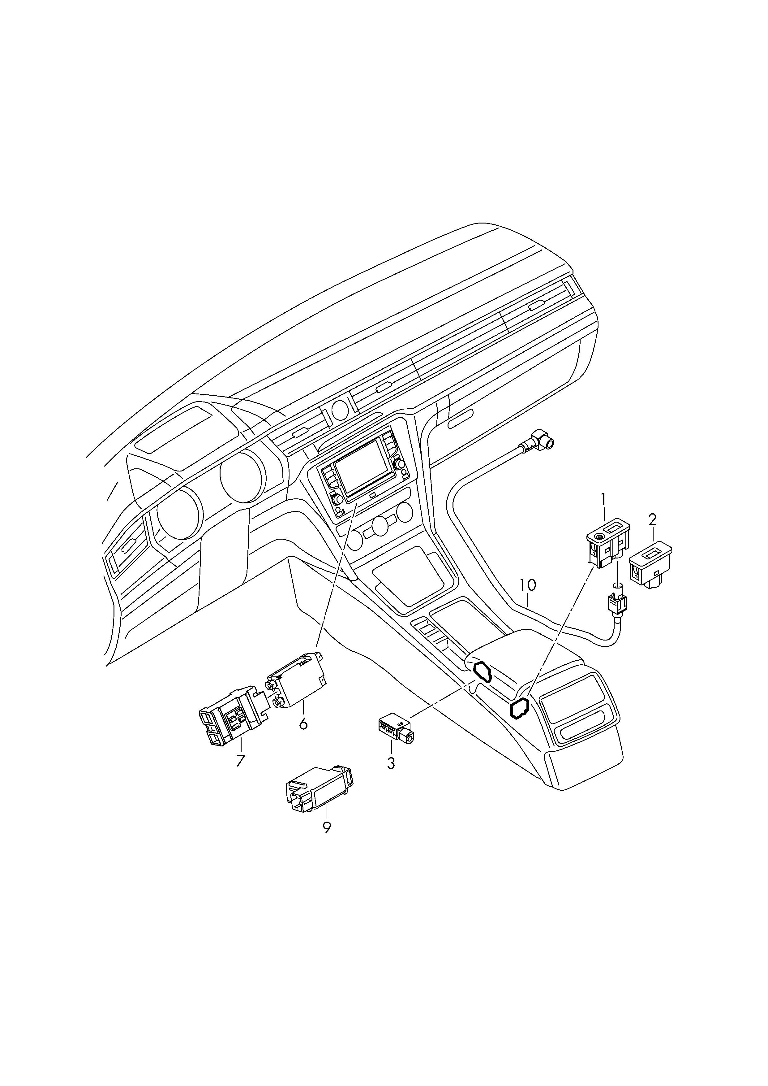 Centre Front Arm Rest - Skoda Superb Mk Iii