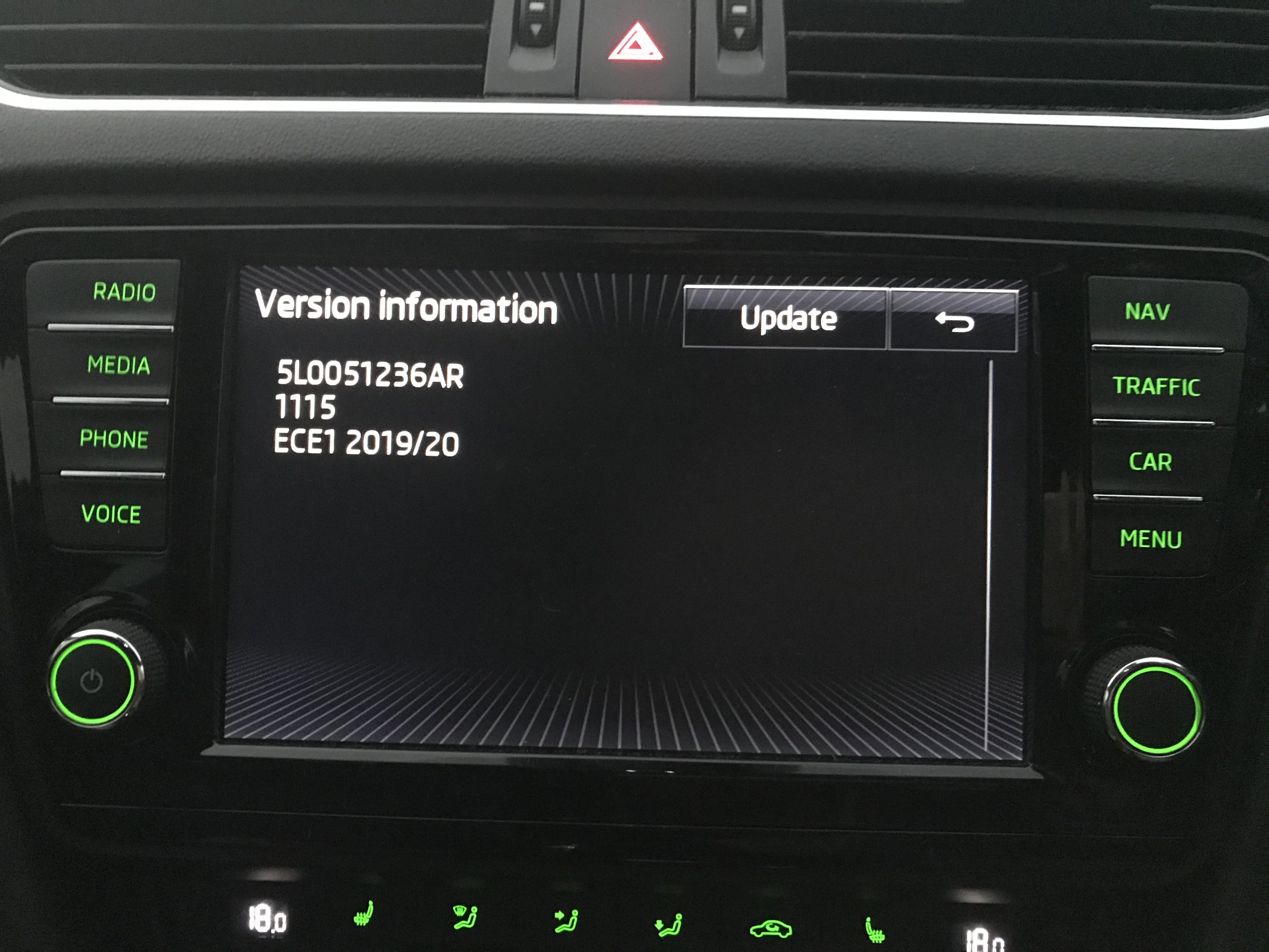 ECE 2019/2020 maps are now available on the Skoda Update