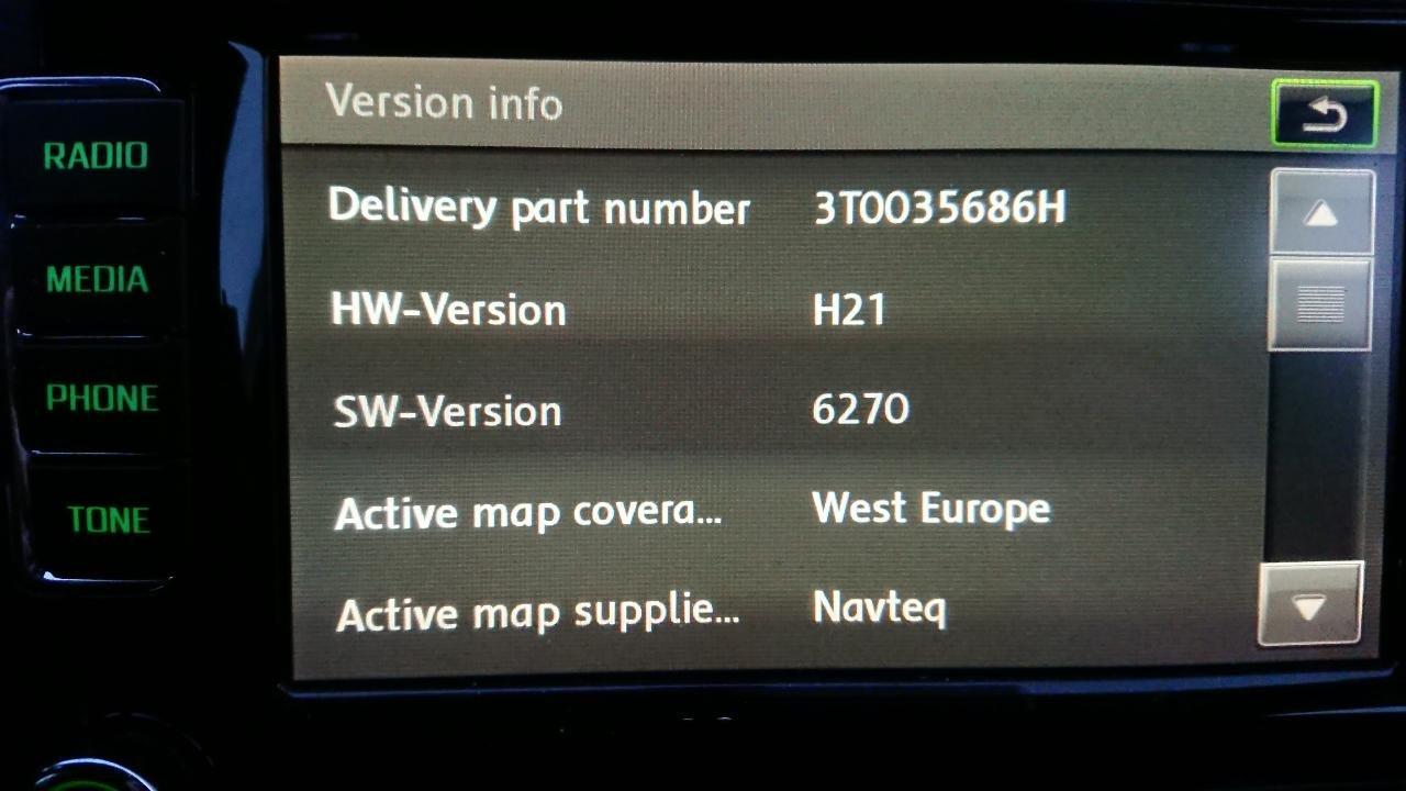Map update for Columbus - Skoda Superb Mk II - BRISKODA