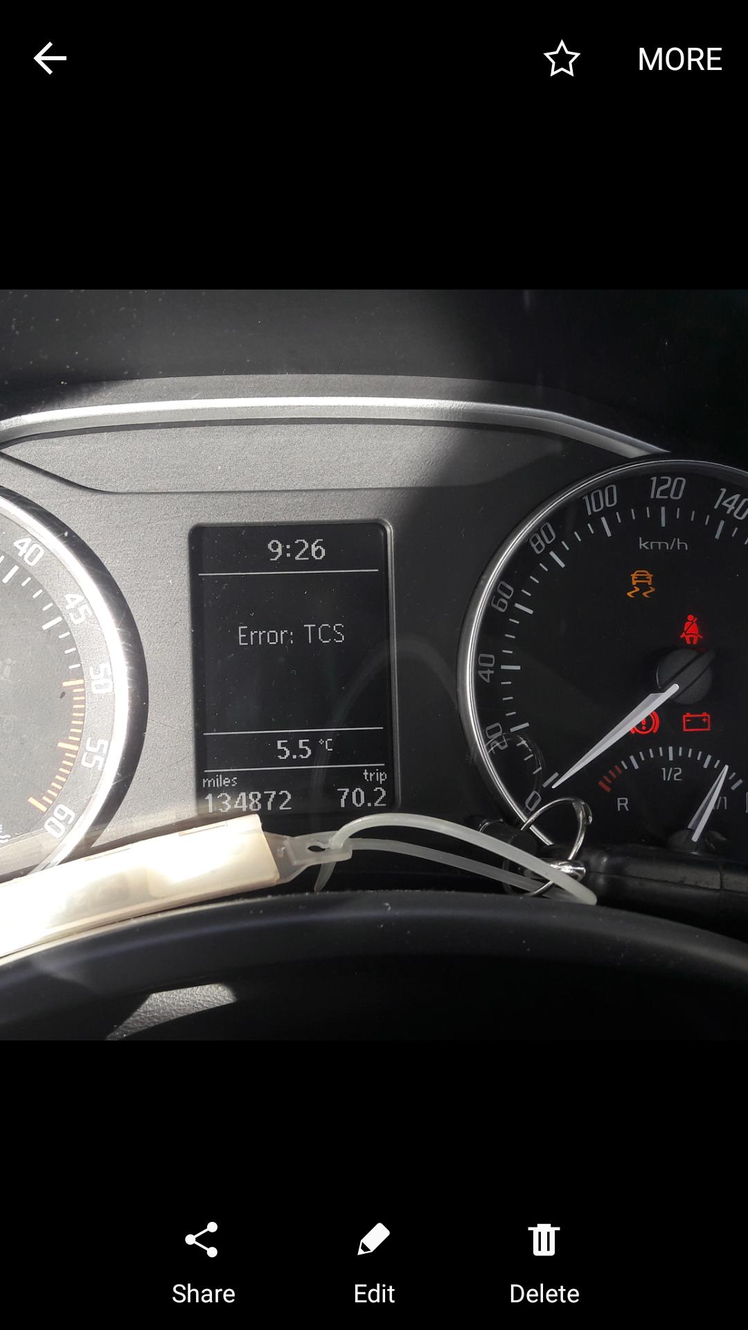 TCS Error won't start  - Skoda Octavia Mk II (2004 - 2013