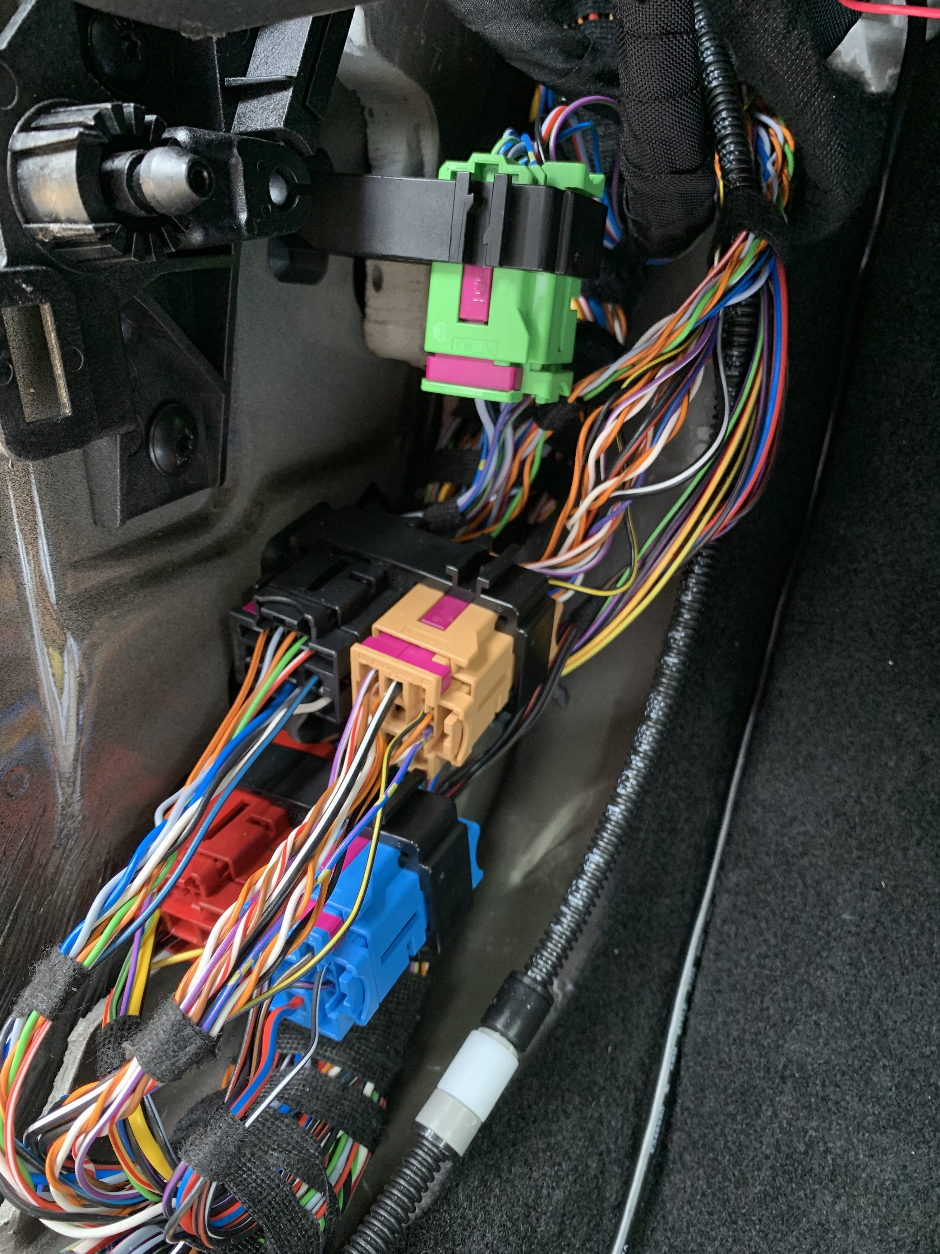 canbus wiring colours for immobiliser