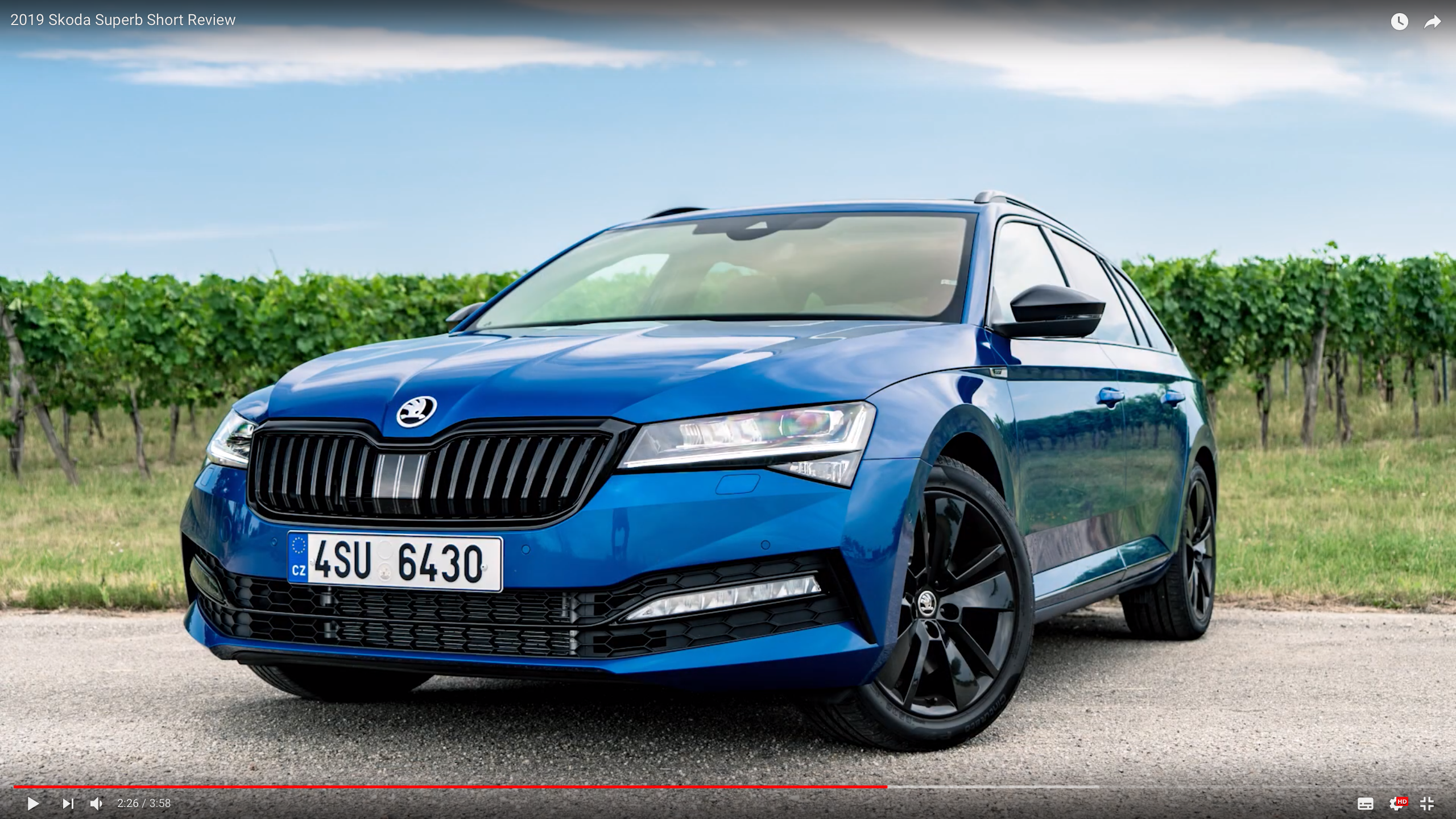Sportline in Race Blue? - Skoda Superb Mk III - BRISKODA