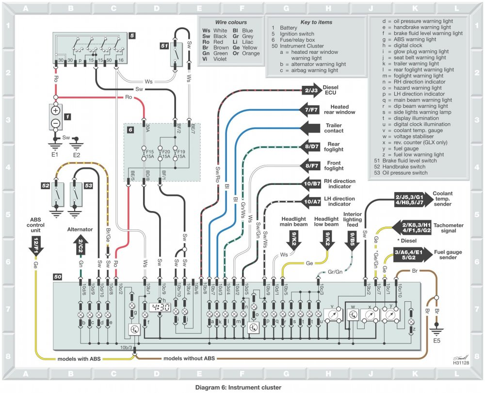 Pickup Ignition Switch Wiring - Skoda Favorit  Skoda Felicia  Skoda Fun And Skoda Forman